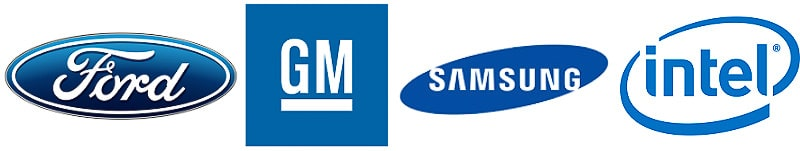 auto and tech blue logo examples