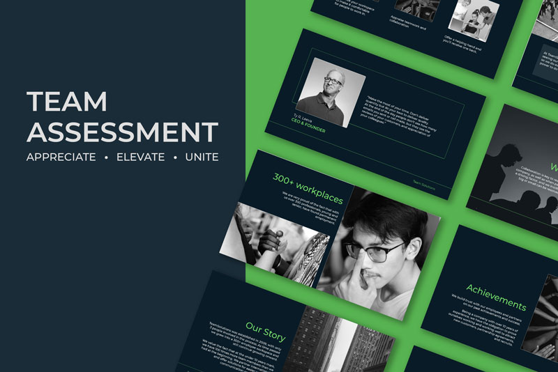 Team Assessment slides with Renderforest