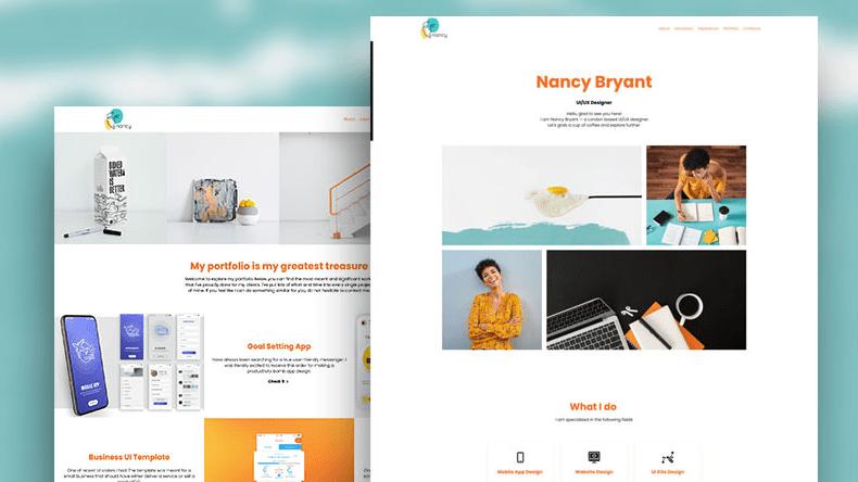 UI/UX designer CV Renderforest