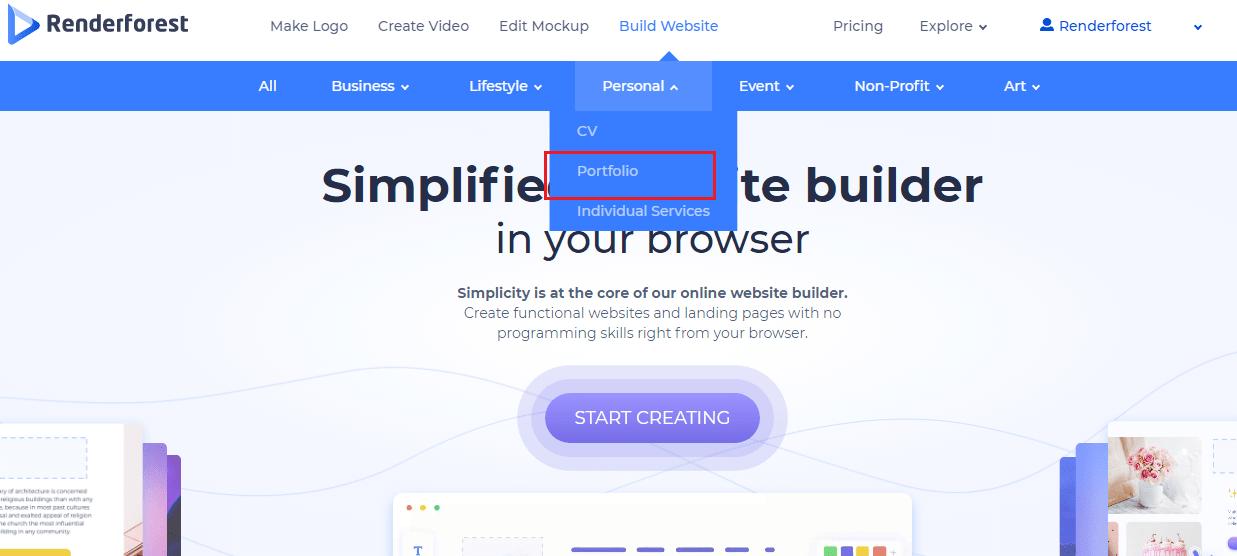 website template categories