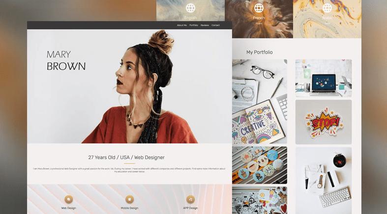 web designer CV Renderforest