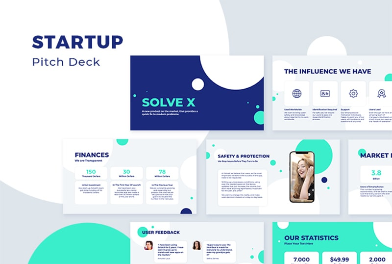 startup pitch deck graphic design
