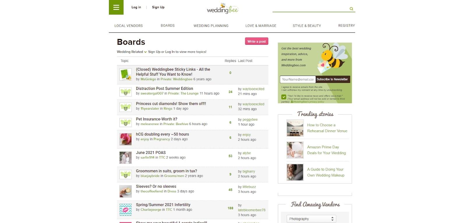 community forum website example