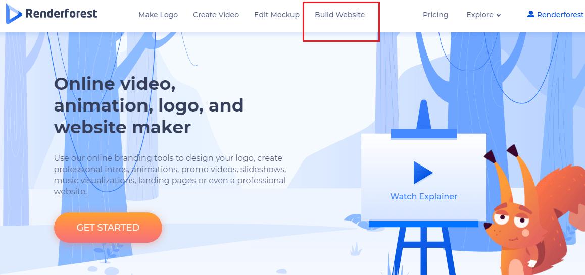 Renderforest website builder