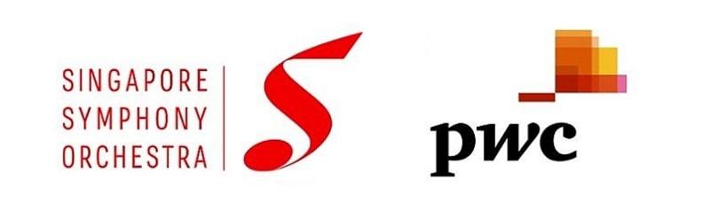 Singapore Symphony Orchestra and PWC monogram logos