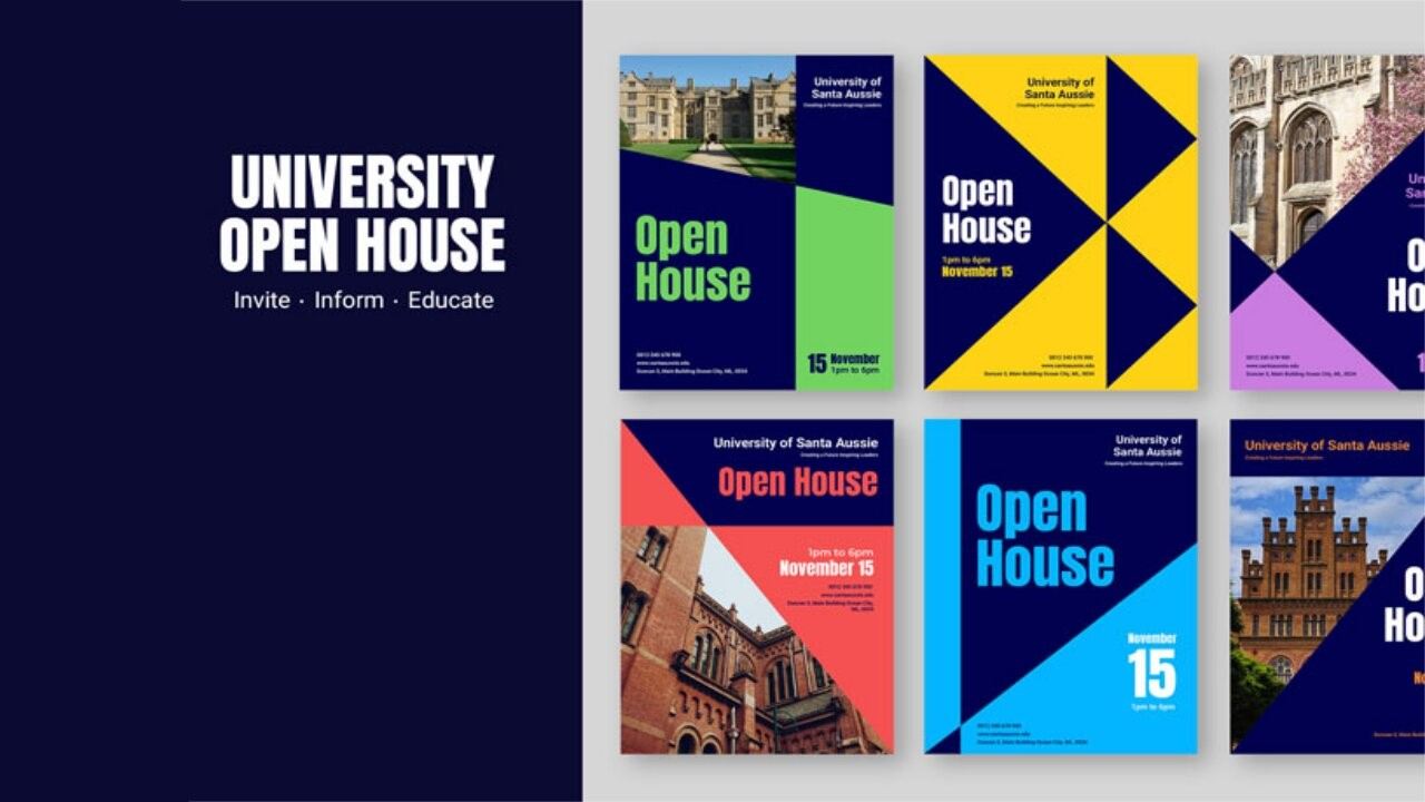 university open house visuals