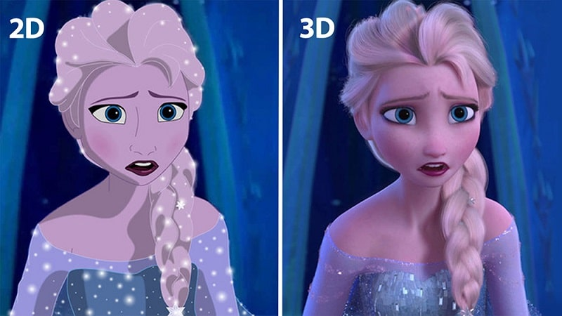 2D animation vs. 3D animation