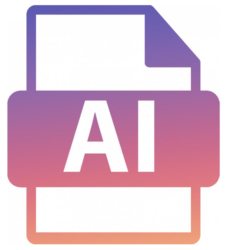 Vector logo format AI