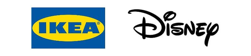 IKEA and Disney wordmarks
