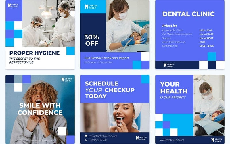 healthcare graphics for social media