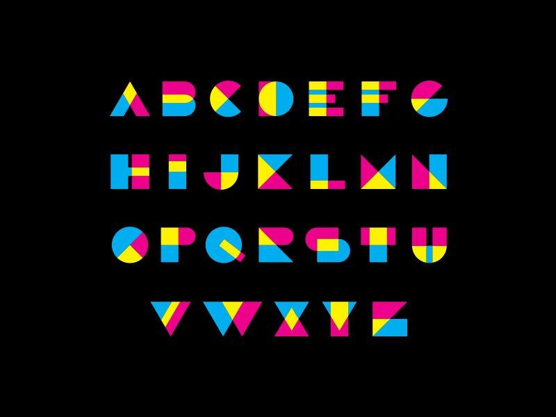CMYK alphabet