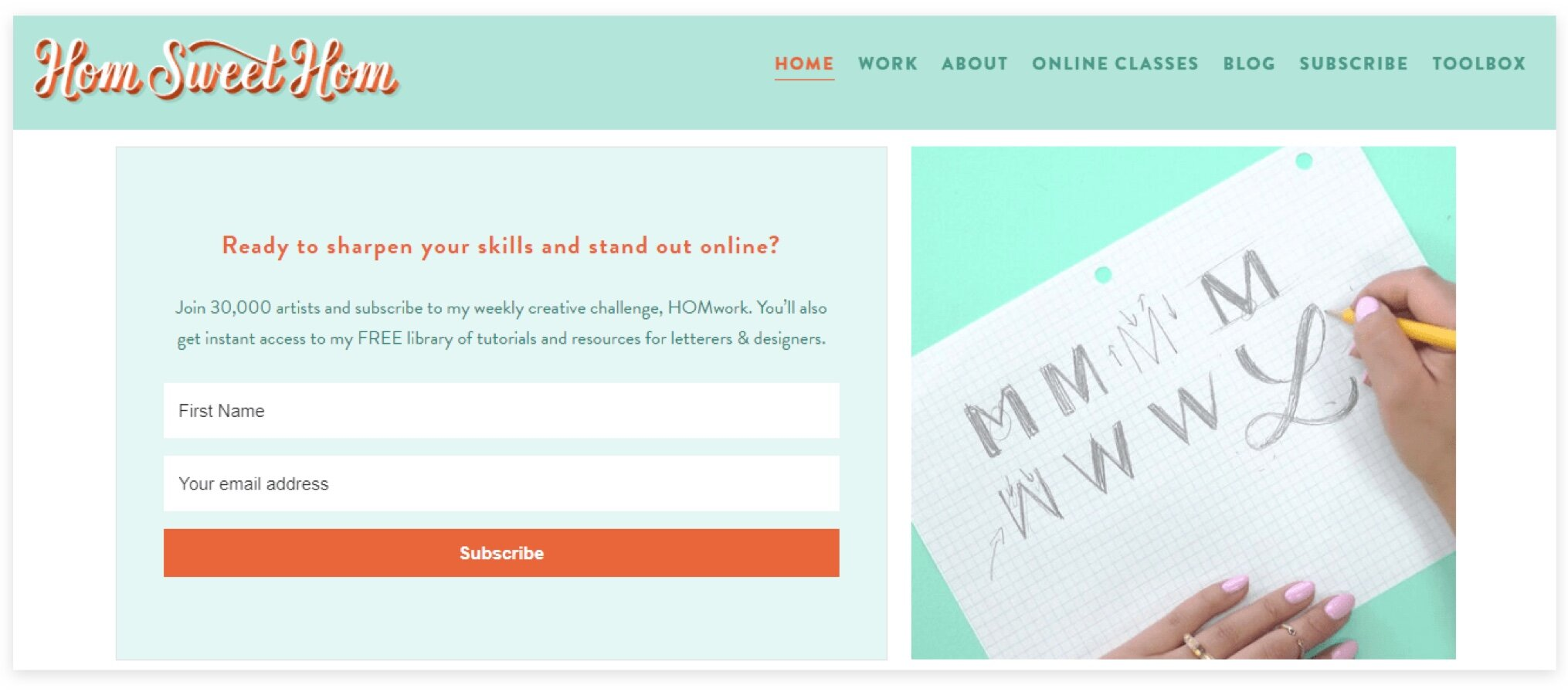graphic designer website tips