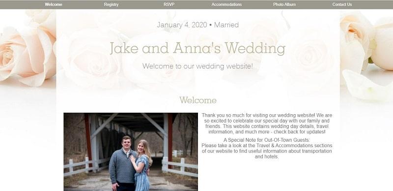 Jake and Anna's wedding website