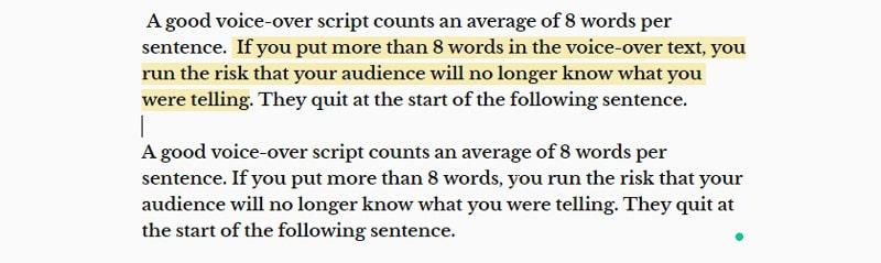 write voice-over script
