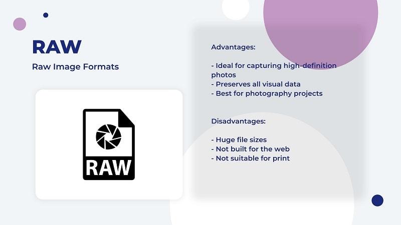 RAW image file type
