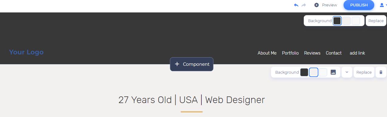 customize the header