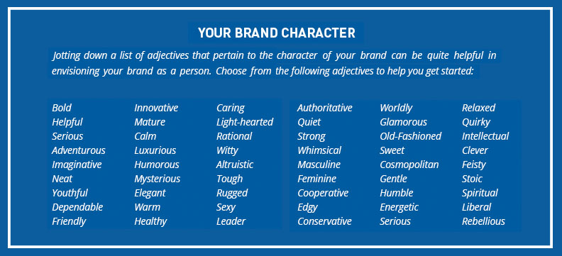 brand personality words