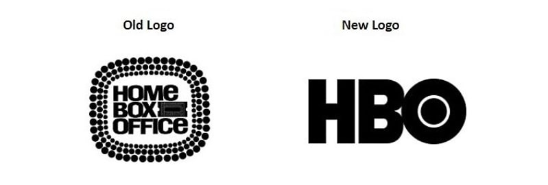 HBO monogram logo then and now