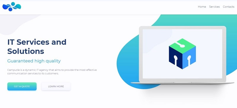 IT agency website example