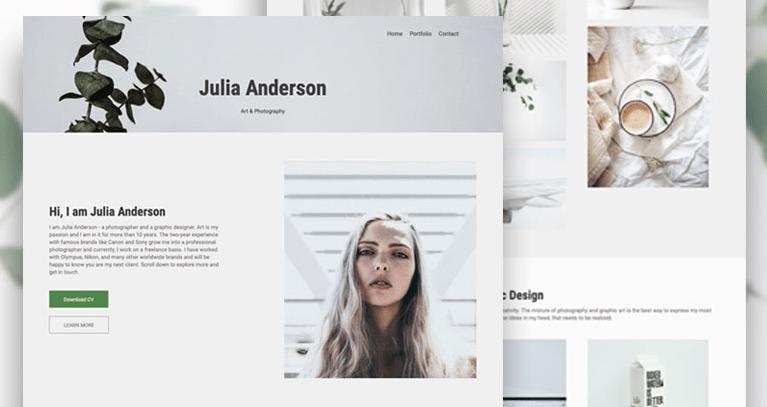 photography and design portfolio Renderforest