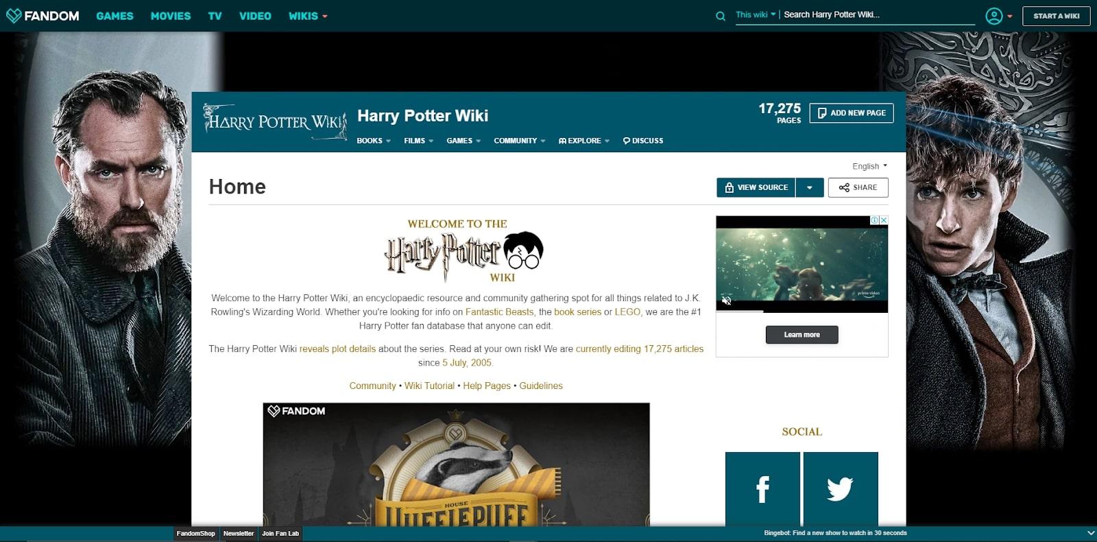 wiki website example