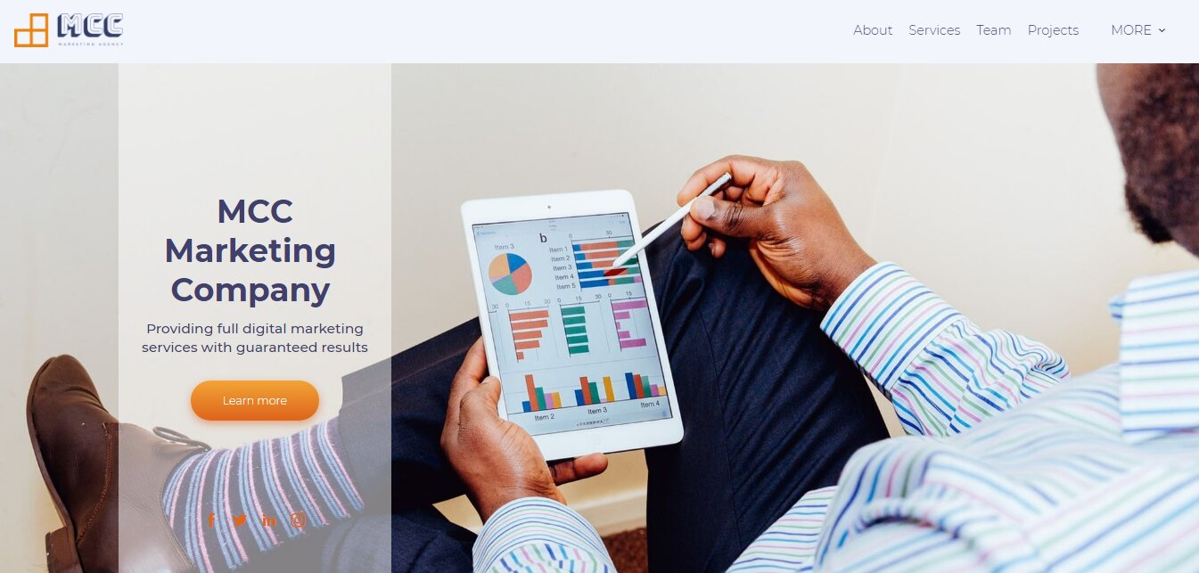 marketing agency web design