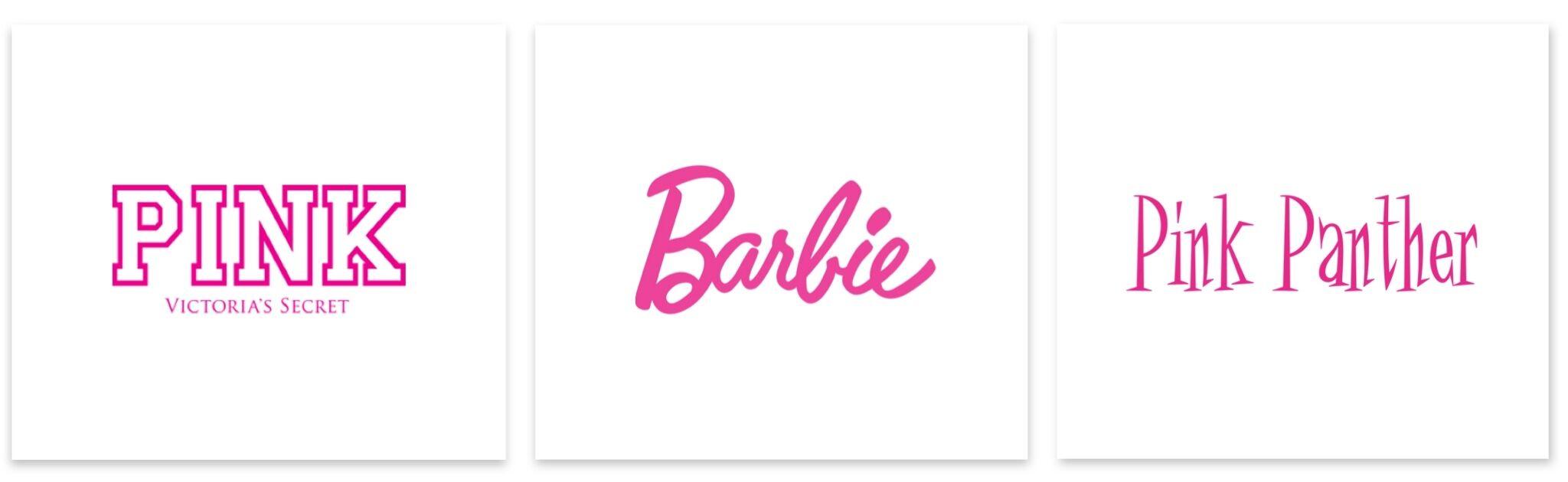 pink logos - victoria's secret-barbie-pink panther