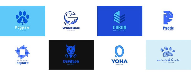 blue logos created with Renderforest