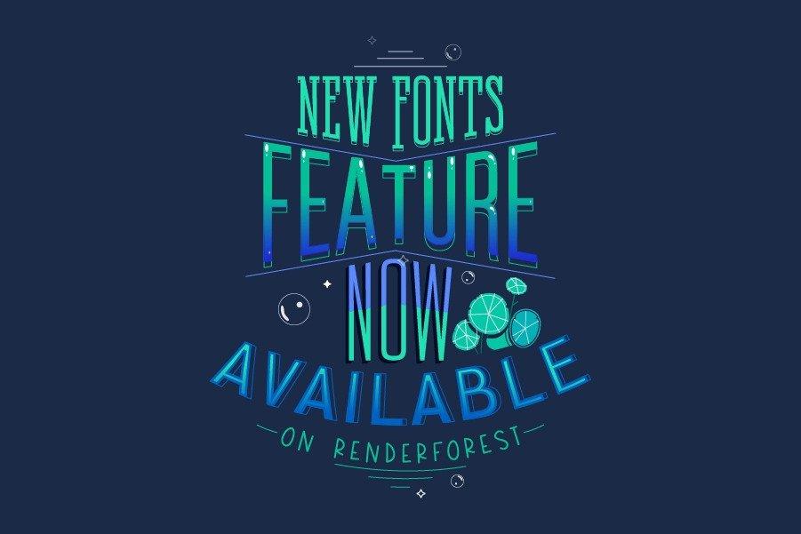 Novo Recurso de Fontes Disponível na Renderforest