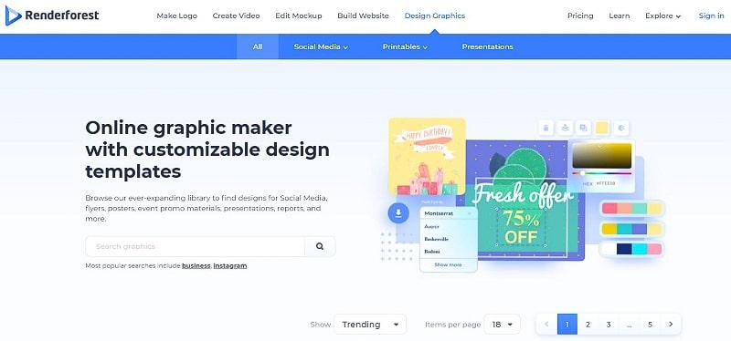 Renderforest Graphic Maker