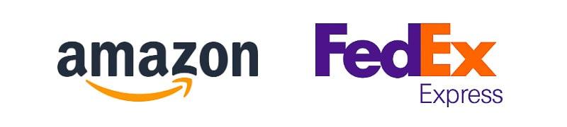 Amazon and FedEx wordmarks