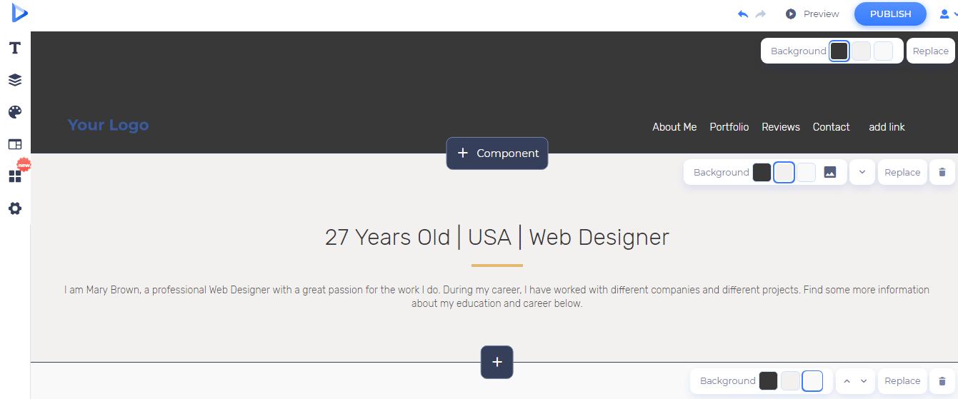 start customizing the template
