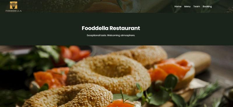 Restaurant website template Renderforest
