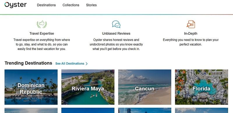 Oyster website
