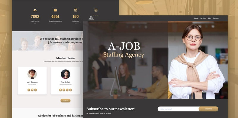 staffing agency website