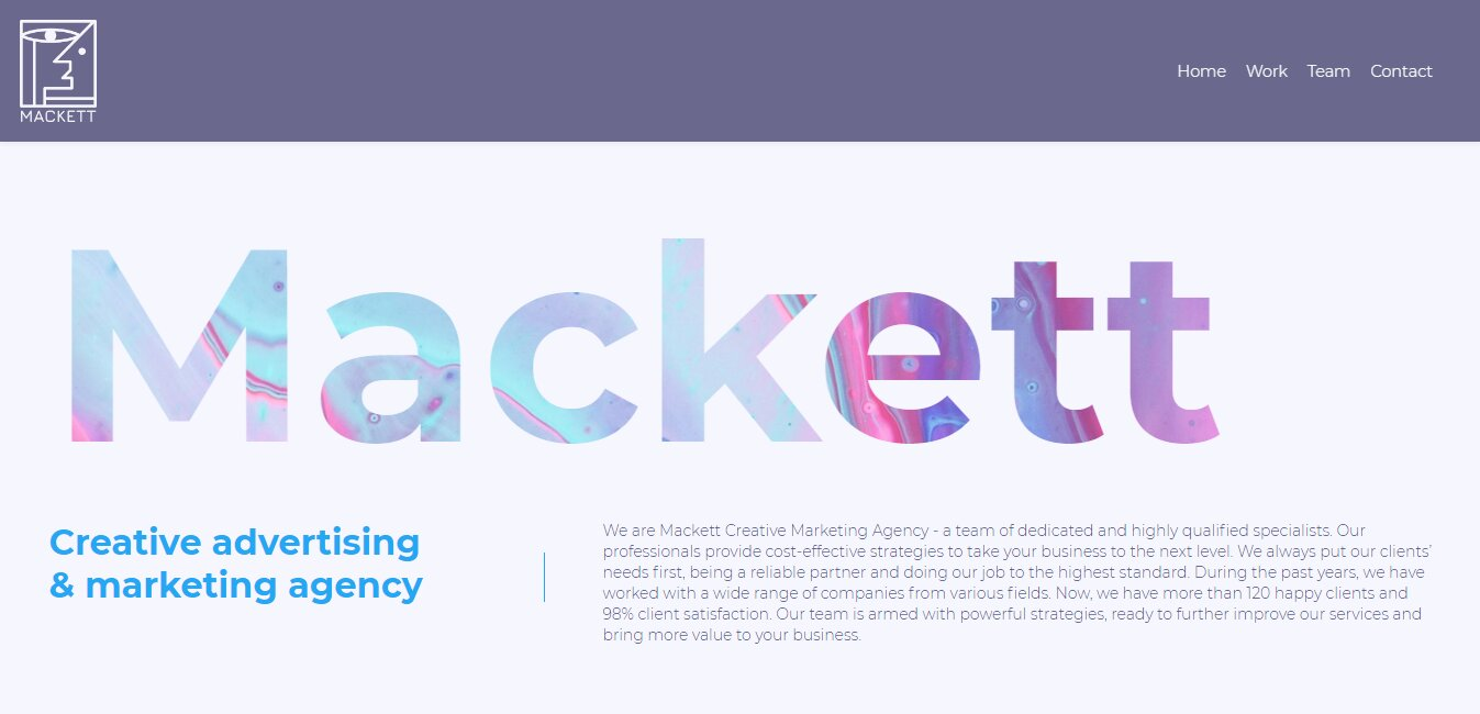 creative marketing website template