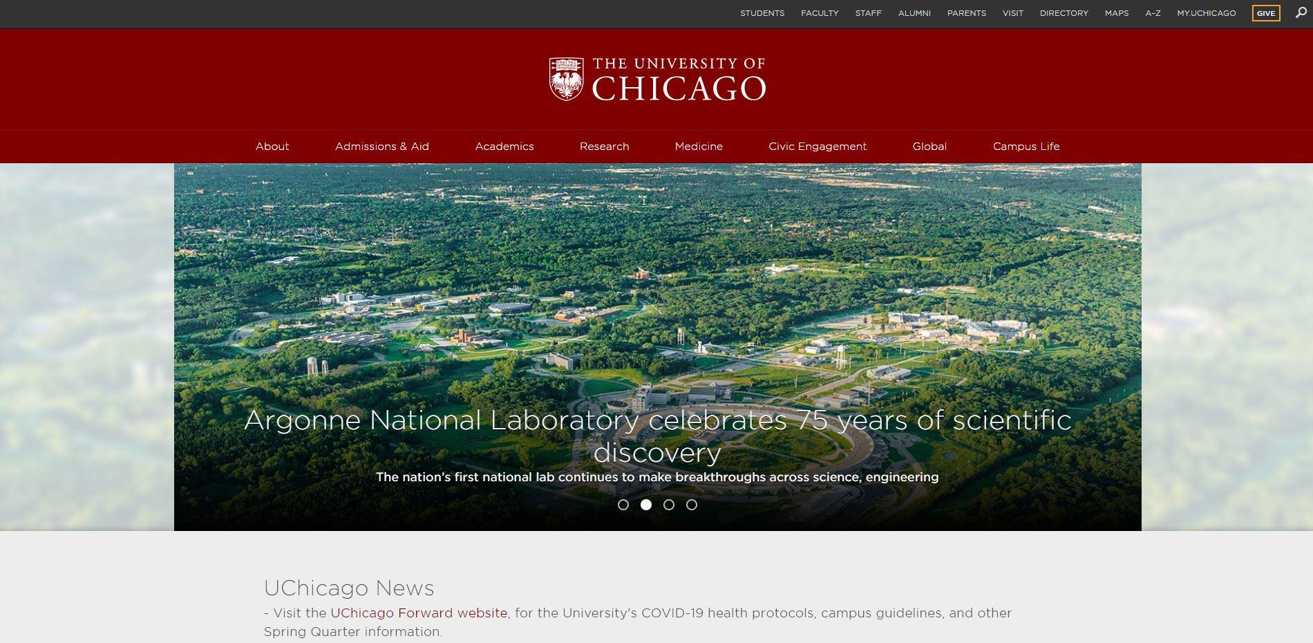 university website example