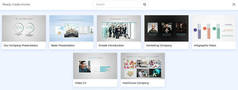 Corporate presentation presets