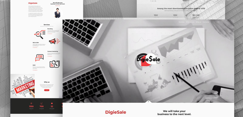 digital marketing website designs