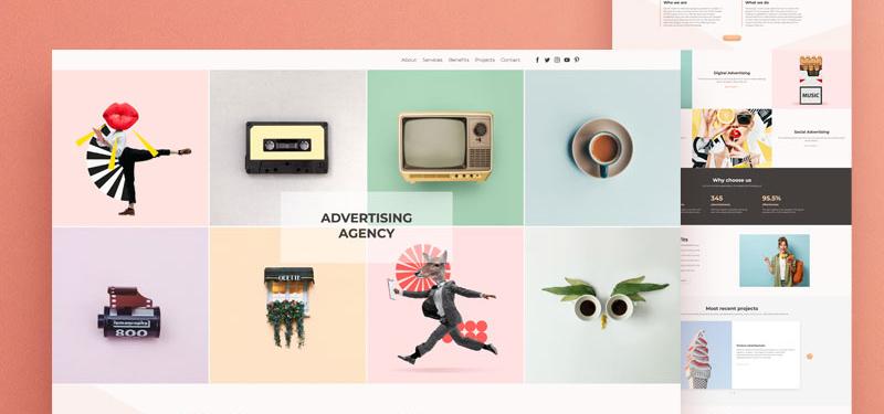 advertising website template