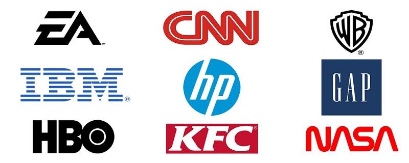 Popular monogram logos