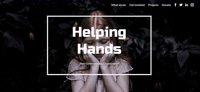 charity website template Renderforest