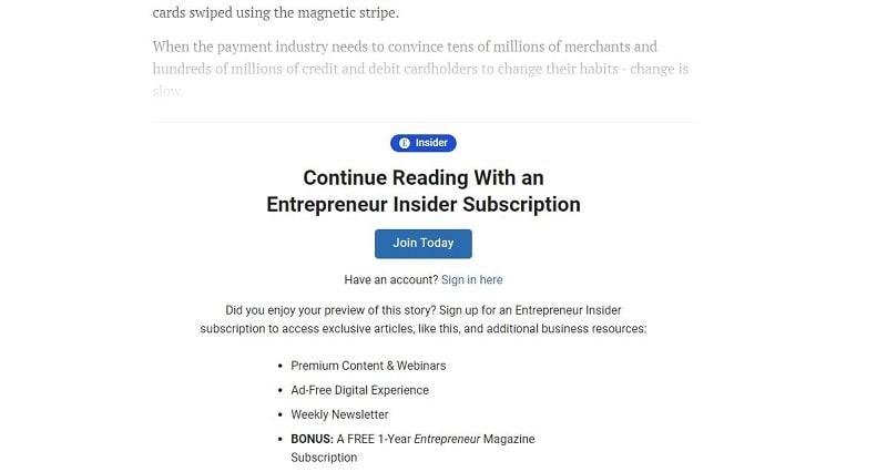etrepreneur.com gated content