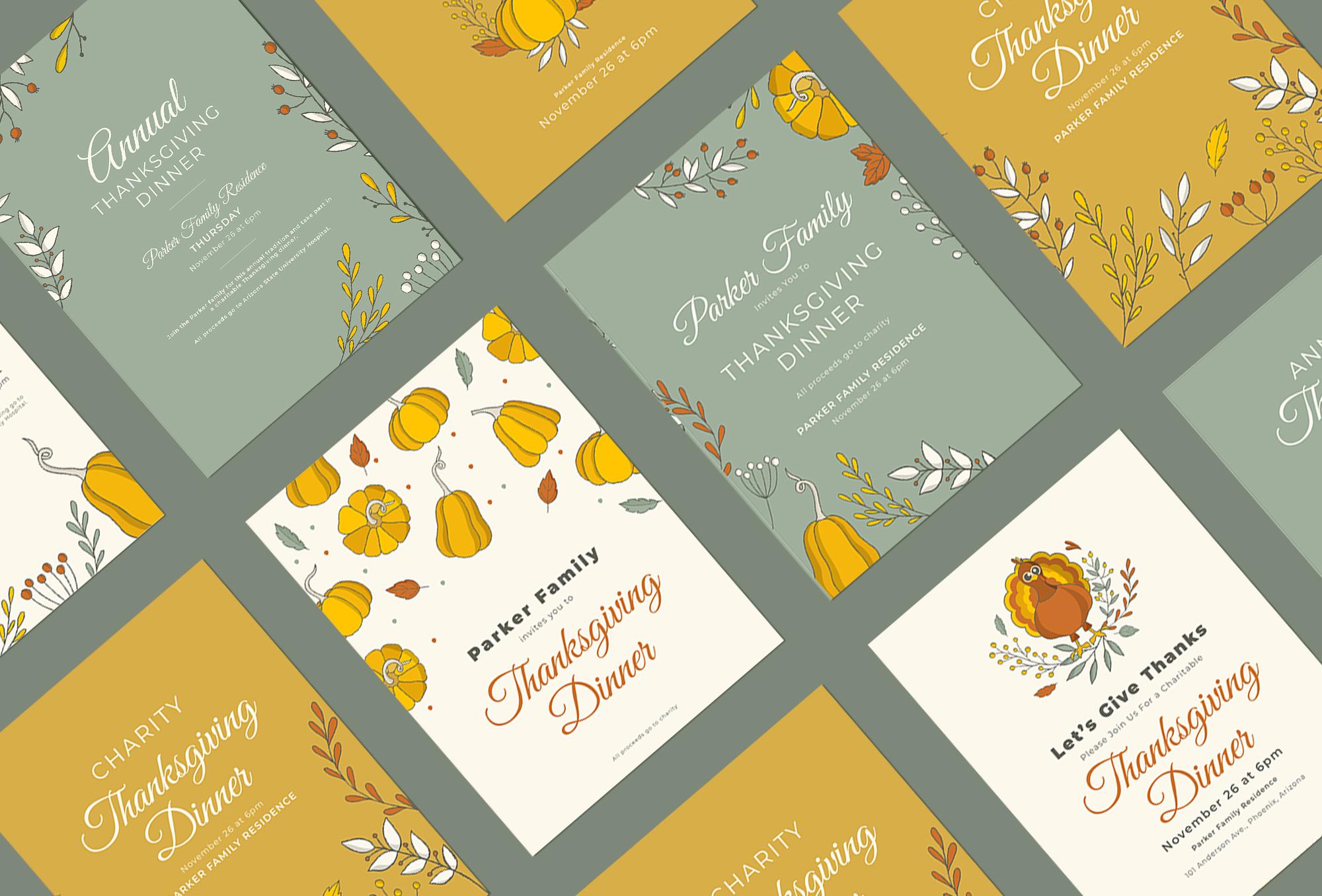 design d'affiche pour thanksgiving