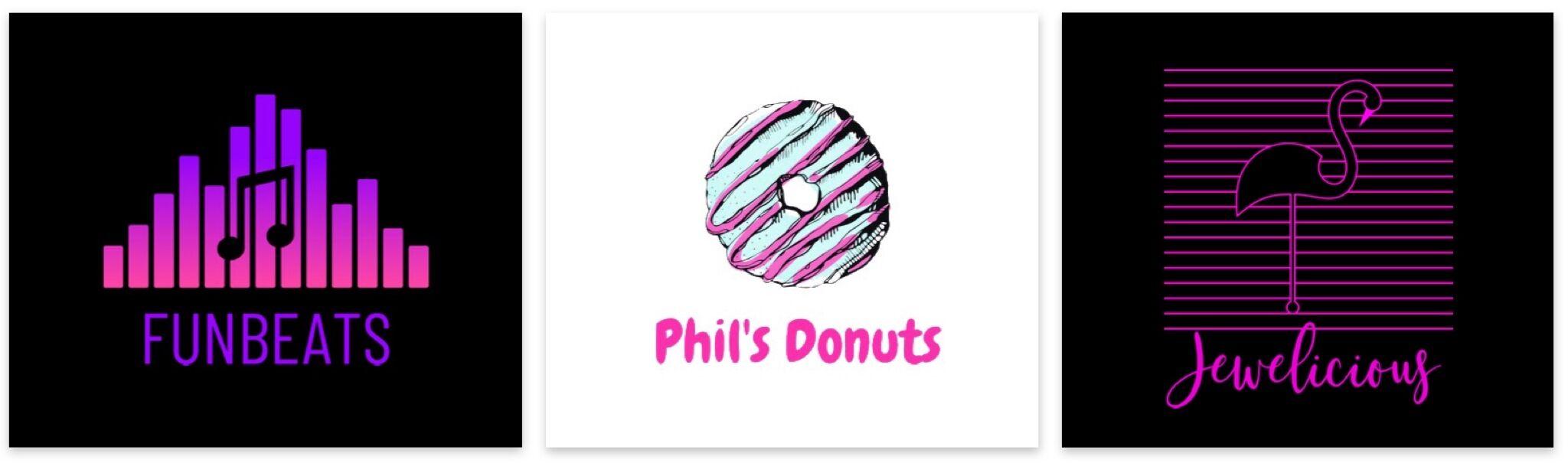 neon pink logo templates