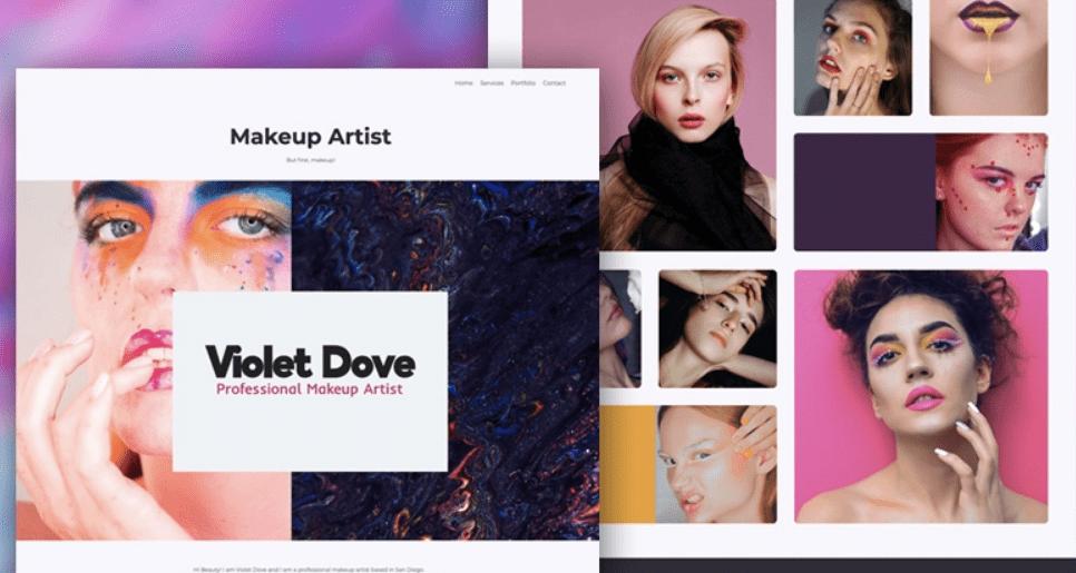 Makeup artist portfolio Renderforest