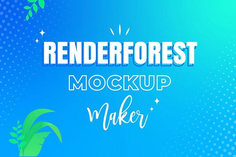 Renderforestでベストモックアップを編集する