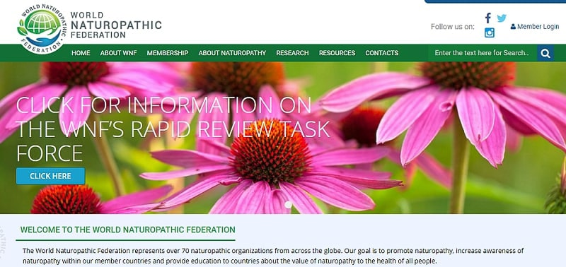 World Naturopathic Federation website