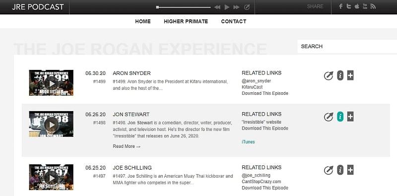 The Joe Rogan Experience podcast