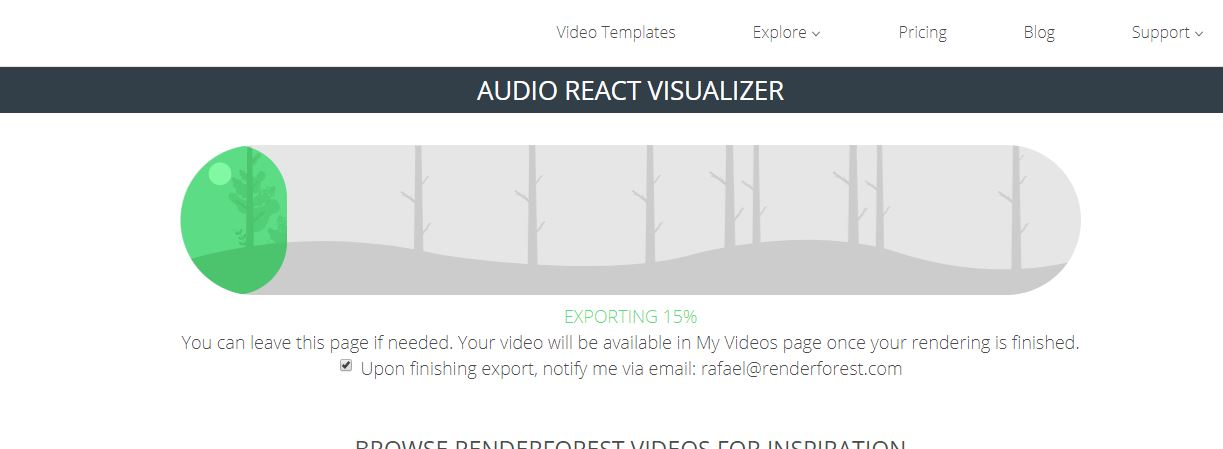 Renderforest Export Video
